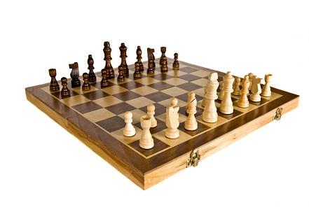 Schachfiguren auf Kassette
